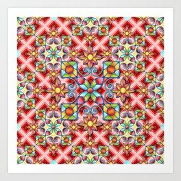 Op Art Arabesque Art Print