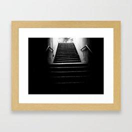The White Light Framed Art Print