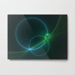Light Flight, Abstract Fractal Art Metal Print