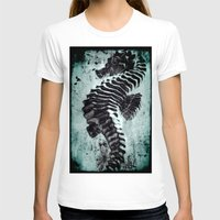 sea horse T-shirts featuring Sea Horse by Bella Blue Photography