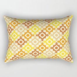 The arrow – brown and yellow Rectangular Pillow