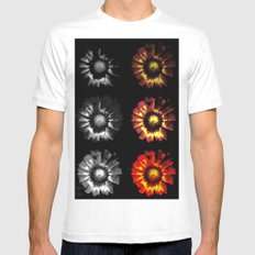 9 suns MEDIUM White Mens Fitted Tee