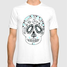 BEESKULL White SMALL Mens Fitted Tee