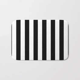 Parisian Black & White Stripes (vertical) Bath Mat