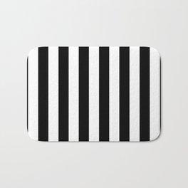 Parisian Black & White Stripes (vertical) Bath Mat