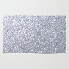 Silver Metallic Sparkly Glitter Rug