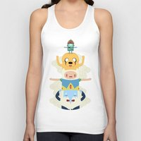 jake Tank Tops featuring Adventure Totem by Daniel Mackey