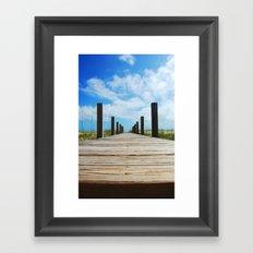 Baldhead island  Framed Art Print