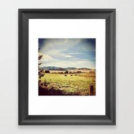 Landscaping Framed Art Print