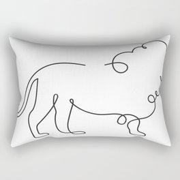 Lion Line Art Rectangular Pillow