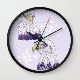 Deuce Eagles Wall Clock