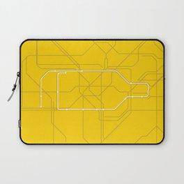 London Underground Circle Line Route Tube Map Laptop Sleeve