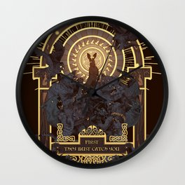 First They Must Catch You Wall Clock