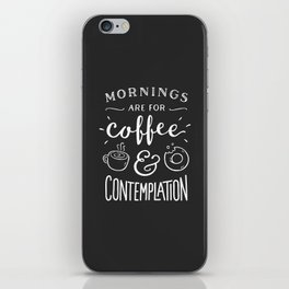 Coffee & Contemplation iPhone Skin