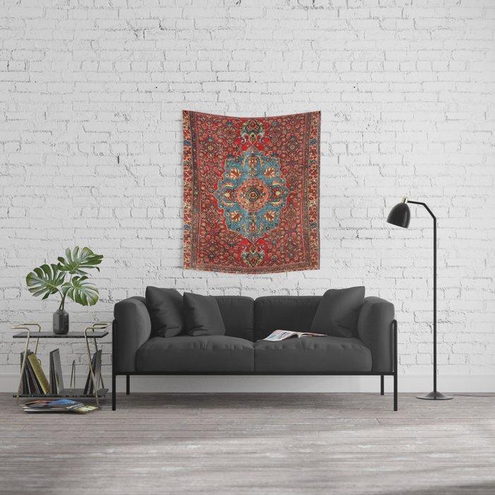 Bidjar Antique Kurdish Northwest Persian Rug Print Wall Tapestry