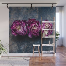 Three Rose Buds Wall Mural