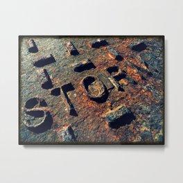 Storm Drain Metal Print