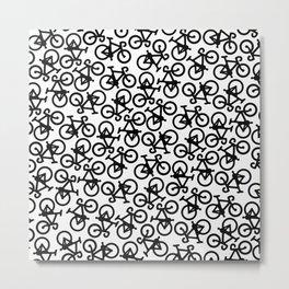 Black Bikes Pattern Metal Print