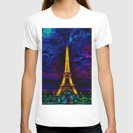 Paris Starry Night by Jeanpaul Ferro T-shirt