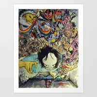 the cure Art Prints featuring The Cure by Matthew Torres