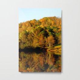Lost Mountain Autumn Lake Reflection Tina A Stoffel Metal Print