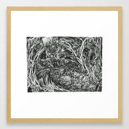 Inktober 2018: The Salvaged Framed Art Print