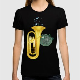 Puffer Fish Playing Tuba T-shirt