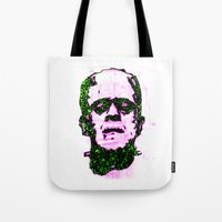 frank Tote Bags featuring Frank by Fimbis