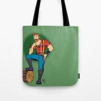 jack daniels Tote Bags featuring Jack! by Katie Diamond