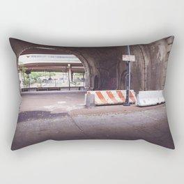 Under the Brooklyn Bridge, a Shutdown Skatepark Rectangular Pillow