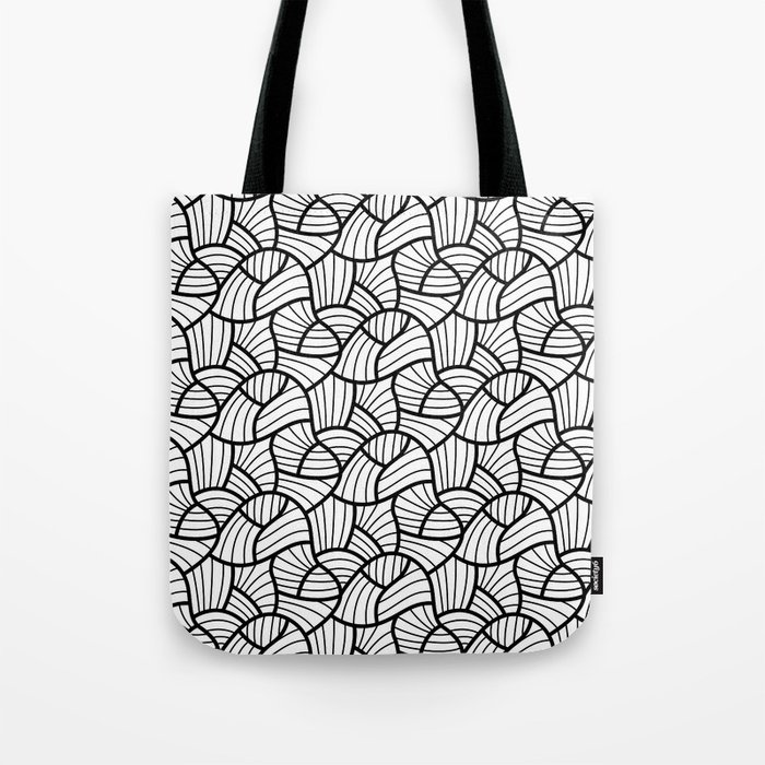 Abstract Lines Pattern Design 3 Tote Bag