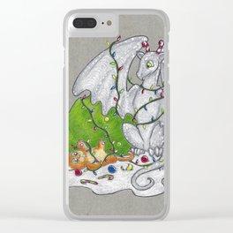 Kitten & Dragon Clear iPhone Case