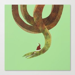 Christmas Snake Canvas Print