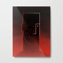Skull Cassandre styl by Squidymoon Metal Print