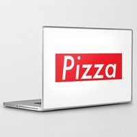 supreme Laptop & iPad Skins featuring The Supreme Pizza by anthonykun
