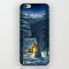 Christmas Snow Landscape iPhone Skin