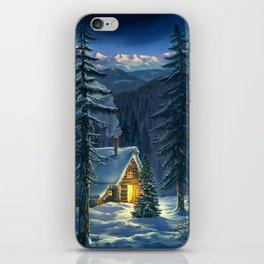 Christmas Snow Landscape iPhone Skin