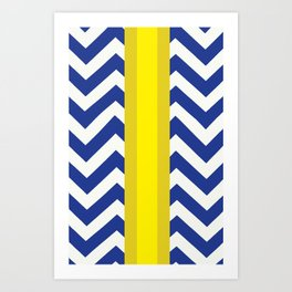 George Summer Chevron Art Print