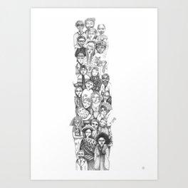 people...people everywhere Art Print