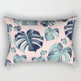 Tropical Monstera Pattern #1 #tropical #decor #art #society6 Rectangular Pillow