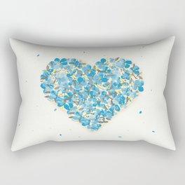 forget-me-nots heart Rectangular Pillow