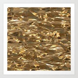 Golden Crinkle Art Print