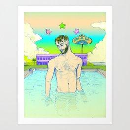 Hotel del Sol Art Print