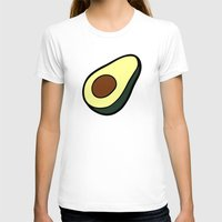 avocado T-shirts featuring Avocado Pattern by evannave
