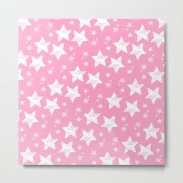 Twinkle little start - pink Metal Print