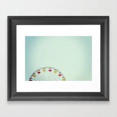 Ferris Wheel at the Sta. Monica Pier Framed Art Print