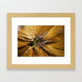Abstract Autumn Gold Framed Art Print