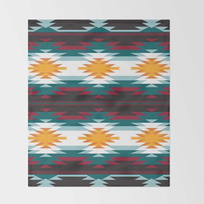 Native American Inspired Design Throw Blanket