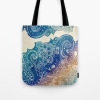 princess Tote Bags featuring Mermaid Princess  by rskinner1122
