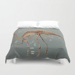 Olorotitan Skeletal Study Duvet Cover